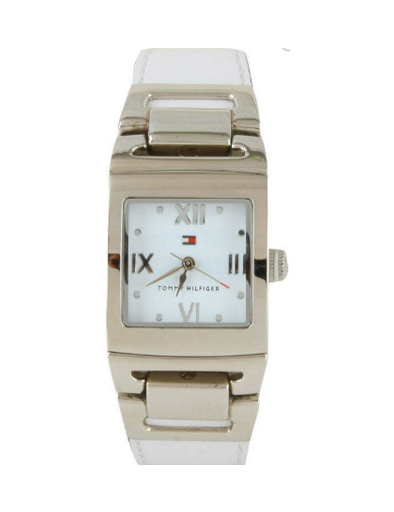 Tommy Hilfiger White Dial White Leather Strap TH1780980/D Women's Watch-TH1780980/D