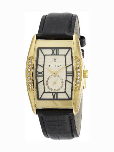 Titan Classique Analog Multi-Color Dial Men's Watch-1527YL05