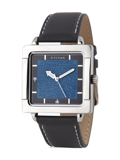 Titan Tagged Analog Blue Dial Men's Watch-1594SL01