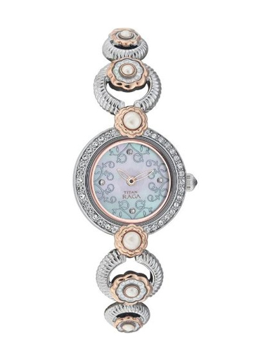 Titan Raga Analog White Dial Women's Watch-9902KM01J