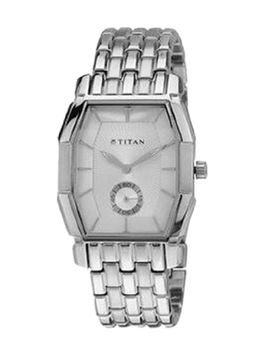 Titan Analog White Dial Unisex Watch-NB19662966SM01