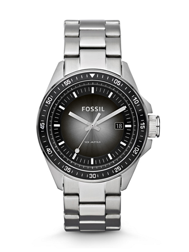 Fossil Men's Stainless Steel Analog with Black Dial Watch-AM4368