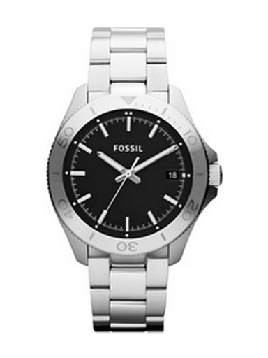 Fossil Retro Traveler Three Hand Stainless Steel Watch-Am4441