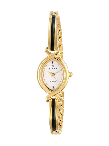 Titan Raga Analog White Dial Women Watch-NE2251YM01