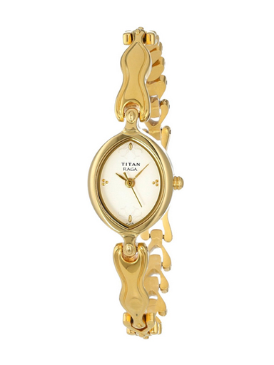 Titan Raga Analog Whites Dial Women's Watch-NE2370YM03