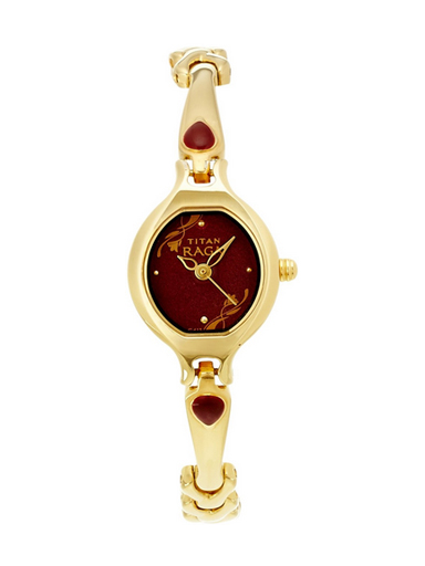 Titan Raga Analog Red Dial Women's Watch-NE2387YM07