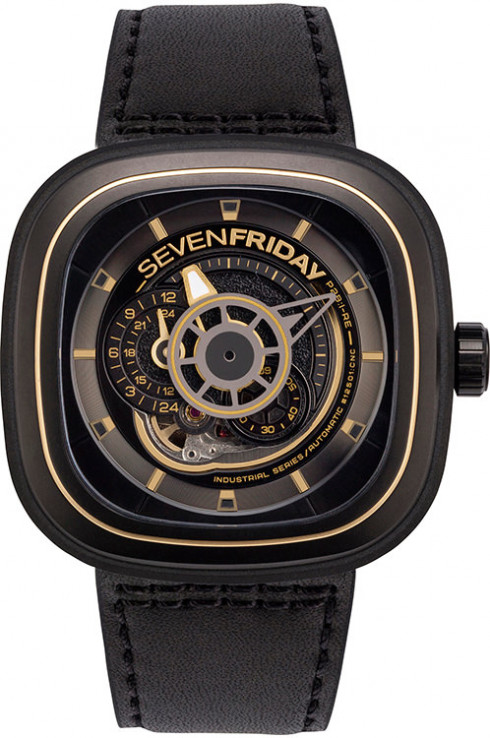 Seven Friday P-Series Automatic Black Dial Men's Watch P2B/02-P2B/02