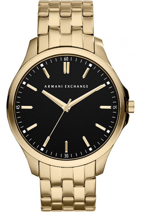 ARMANI EXCHANGEBlack Dial Gold-plated Men's Watch-AX2145