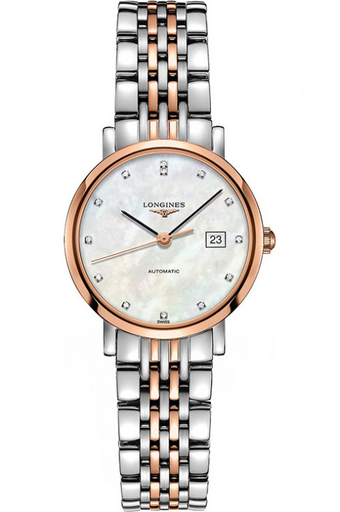 Longines Elegant Automatic 29 mm Stainless Steel Watch For Ladies-L43105877