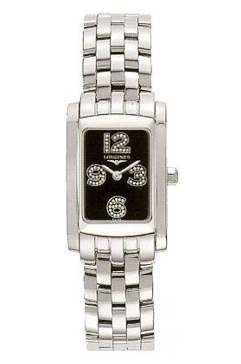 Longines Dolce Vita Quartz Black Diamond Dial Women's Watch L51554586-L5.155.4.58.6