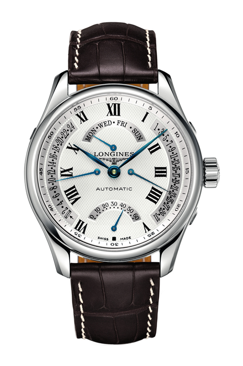 longines master collection silver dial gmt automatic men's watch-L2.717.4.71.3