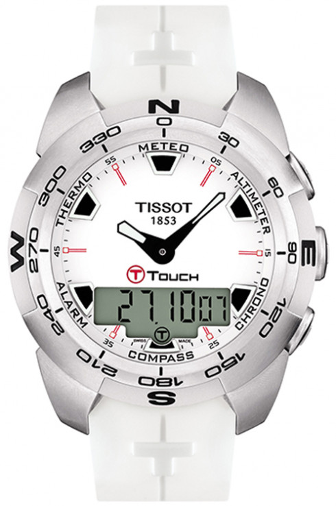 Tissot T-Touch Expert White Dial Men's Watch-T0134201701100