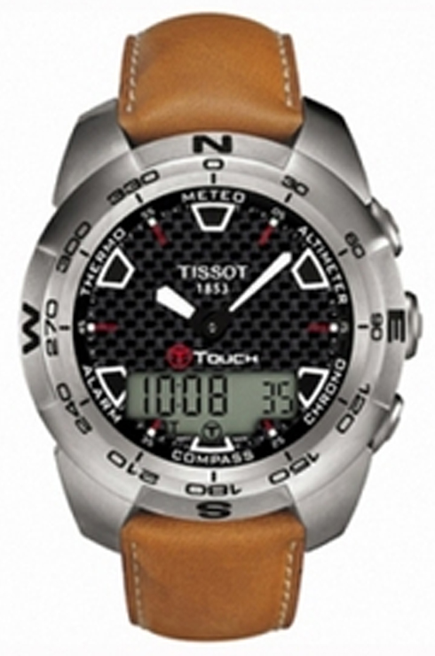 Tissot T-Touch Quartz Black Dial Men's Watch-T0134204620100