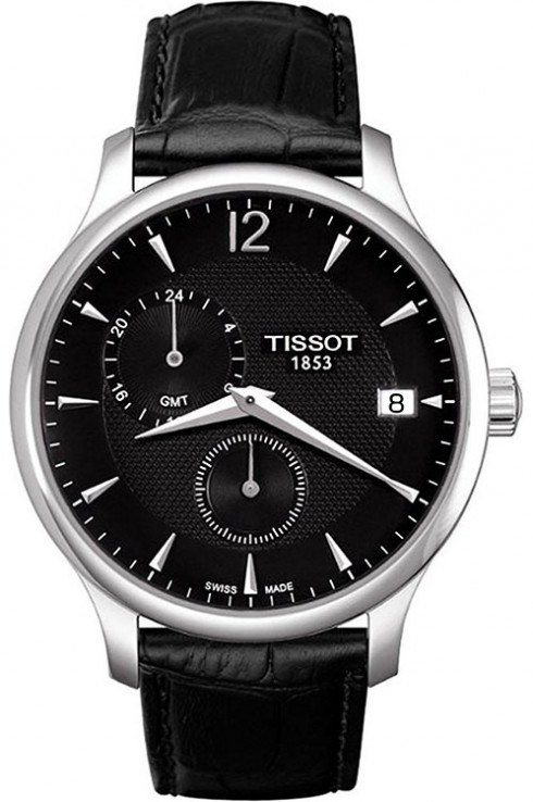 Tissot Tradition GMT Black Dial Men's Watch-T0636391605700