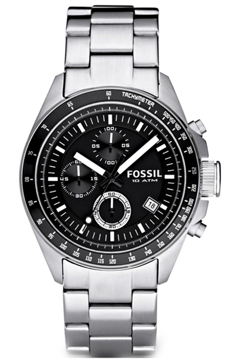 fossil decker chronograph analog black dial mens watch-CH2600IE