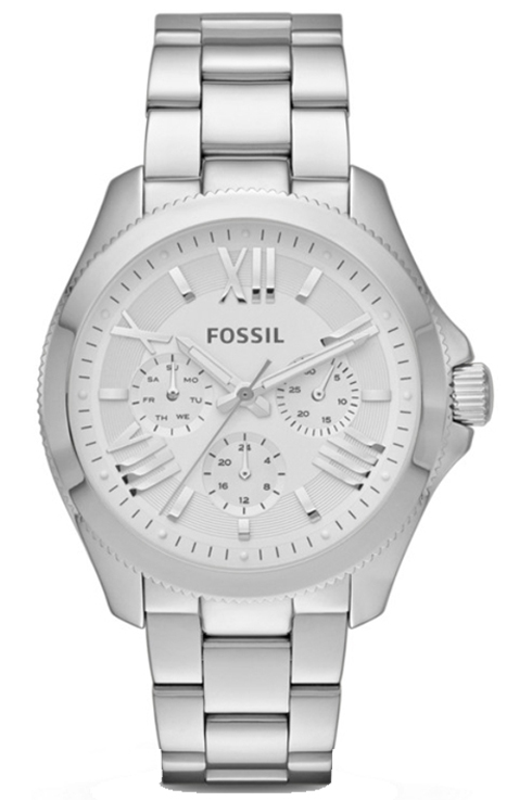 Fossil Women's Cecile Analog Display Analog Quartz Silver Watch-AM4509