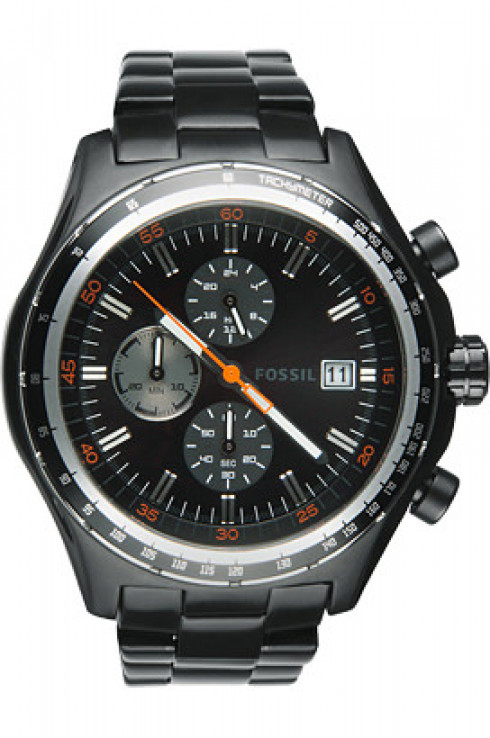 Fossil Dylan Chronograph Black Dial Men's Watch-CH2754