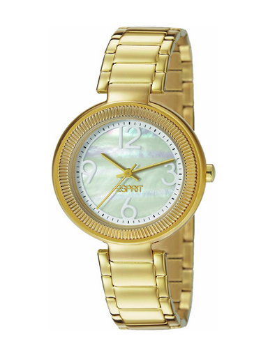Esprit Mother Of Pearl Dial Gold Metal Strap Women's Watch ES106012002-ES106012002