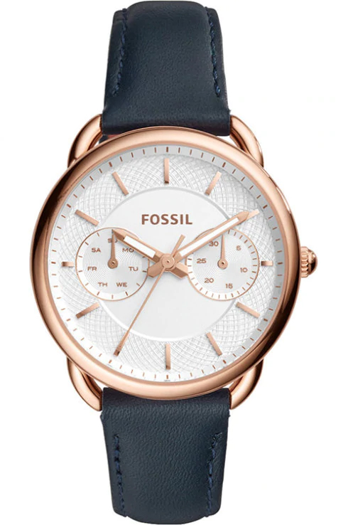 Fossil Blue Leather Analog Watch for Women-ES4260I