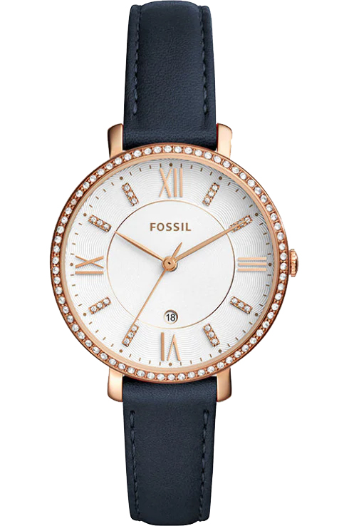 Fossil Jacqueline White Dial Ladies Leather Watch-ES4291I