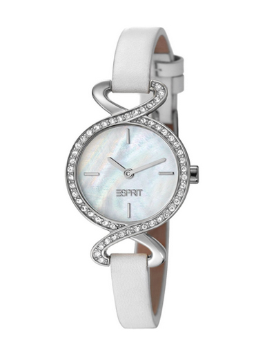 Esprit Mother Of Pearl Dial White Leather Strap Women's Watch ES106282002-ES106282002