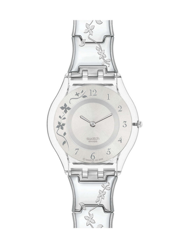 Swatch Women's Quartz Stainless Steel Silver Casual Watch-SFK300G
