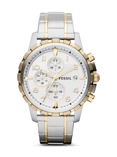 Fossil Men's Dean Chronograph Stainless Steel Watch-FS4795