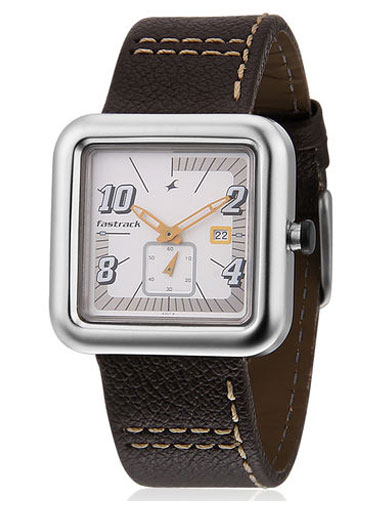 Fastrack Brown/White Analog Watch-Ne1387sl01