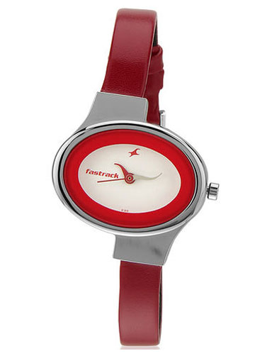Fastrack Red Analog Watch-NE6015Sl01