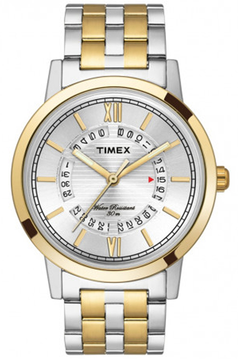 timex tw000t128 silver dial men's watch-TW000T128
