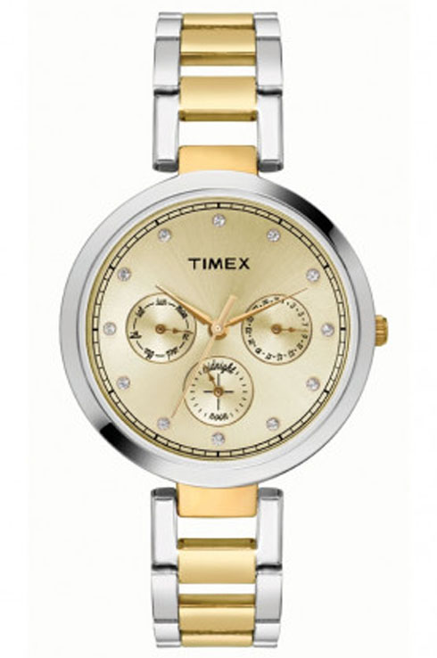 Timex TW000X213 Gold Dial Women's Watch-TW000X213