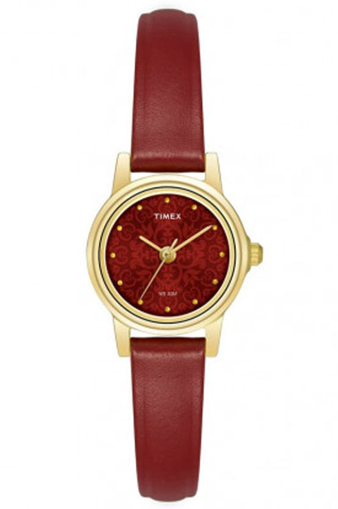 Timex TW000CS10 Red Dial Women's Watch-TW000CS10