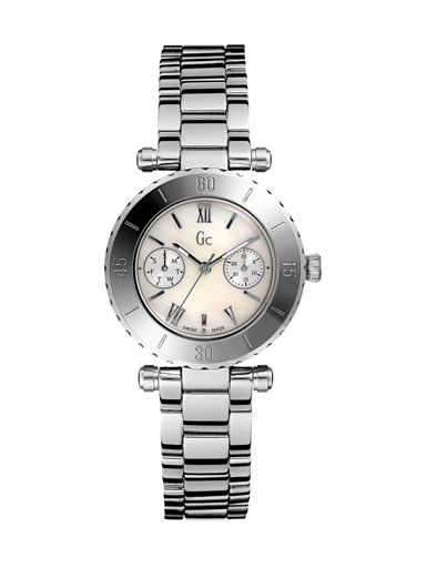 GC Silver Steel Bracelet & Case Anti-Reflective Sapphire Women's Watch-I20026L1S