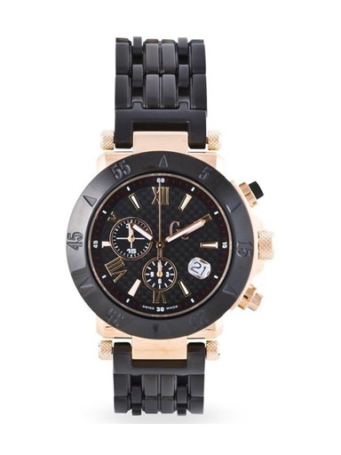 GC Men's Chronograph Watch with Black Dial-I47000G1