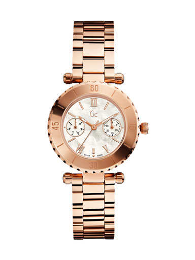 Guess 34mm Bronze Steel Bracelet & Case Mineral Women's Watch-X35011L1S