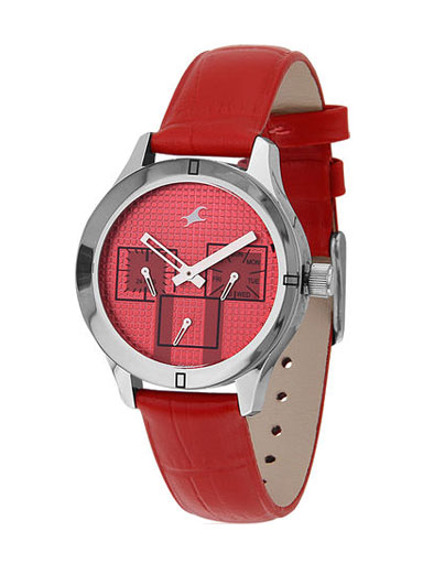 Fastrack Monochrome Red Analog Watch-NE6078SL09