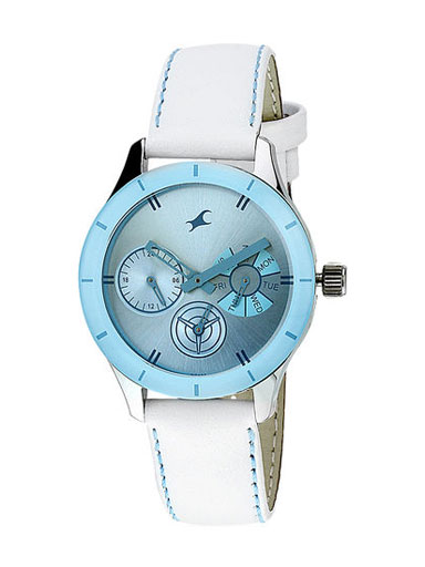 Fastrack White/Blue Analog Women's Watch-NE6078SL08