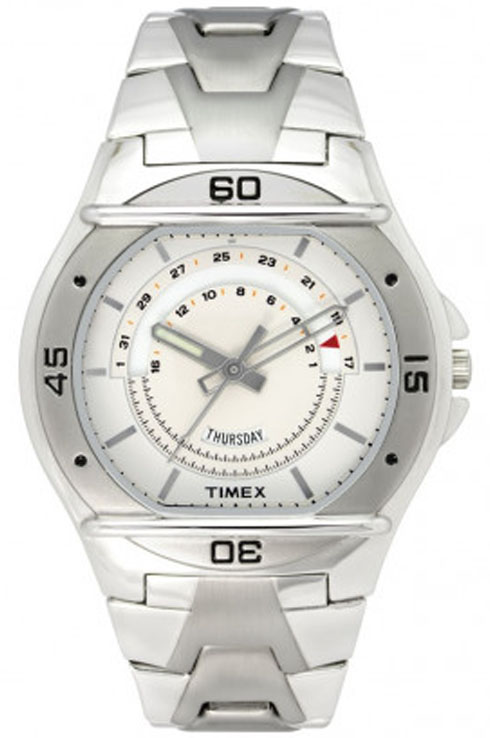 timex fashion silver dial men watch tw000el06-TW000EL06