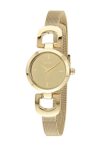 DKNY Gold Dial Gold-tone Stainless Steel Mesh Ladies Watch -NY2101