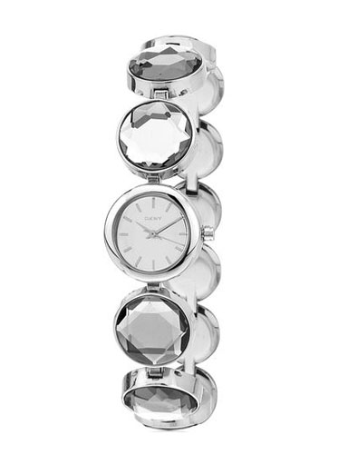 DKNY Ladies Roundabout Silver Tone Steel Bracelet Watch-NY2123