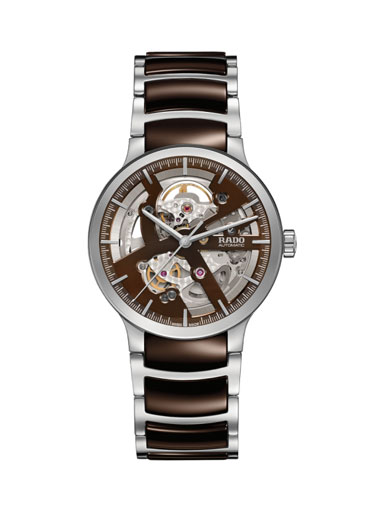 Rado Centrix Open Heart Automatic Skeleton Dial Men's Watch-R30179302