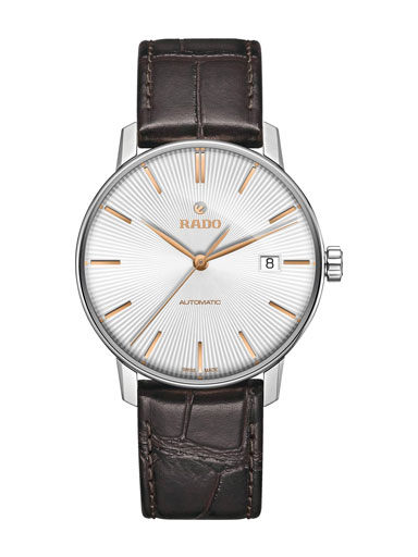 Rado Coupole Classic Silver Dial Leather Men's Watch-R22860025