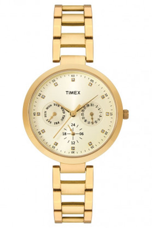 Timex Fashion Champagne Dial Women Watch TW000X208-TW000X208