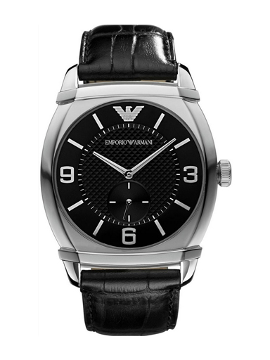 Emporio Armani Men's Classic Black Dial Watch-AR0342