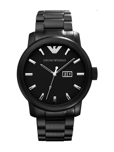 Armani Men's Classic Matte Black Stainless Steel Watch-AR0346