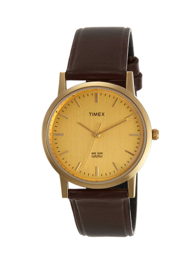 Timex Classic Analog Champagne Dial Men Watches-A302