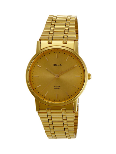 Timex Analog Champagne Dial Men's Watch -A305
