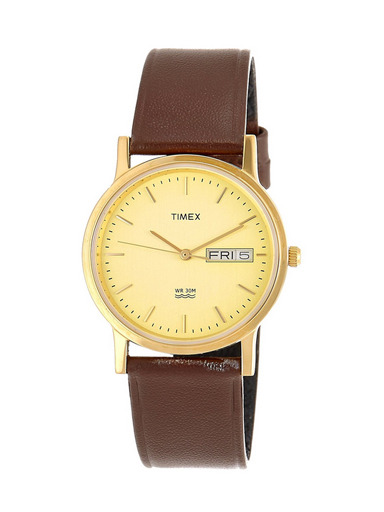 Timex Classics Analog Champagne Dial Men's Watch-A501