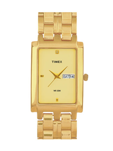 Timex Analog Champagne Dial Men's Watch 11-BE11