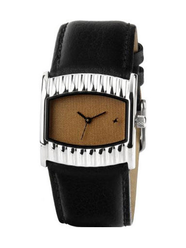 fastrack analog brown dial women's watch -NC6055SL02